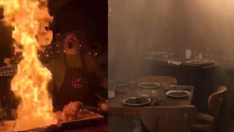 Bir Nusret Kolay Yetişmiyor! Nusret'e Özenen Erdal Şef, Şov Yapayım Derken Restoranı Yaktı