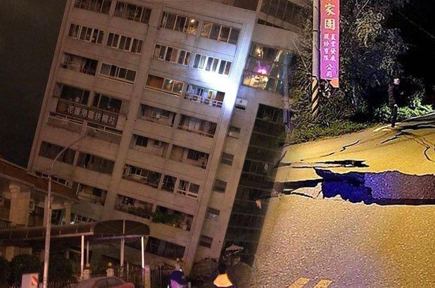 Tayvan'da 6,4 Şiddetindeki Deprem Faciayı Getirdi, Binalar Yerle Bir Oldu!
