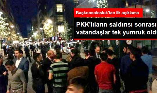 Vatandaşlar Brüksel'de Referandum Oylamasına Yapılan PKK Saldırısına Sert Tepki Gösterdi!