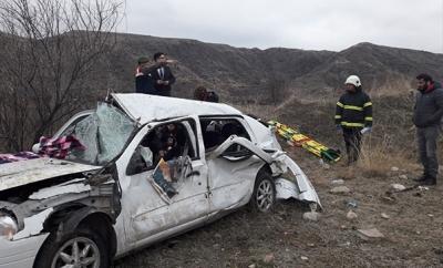 Amasya'da Korkunç Kaza! Otomobil Şarampole Uçtu! 2 Ölü, 3 Yaralı