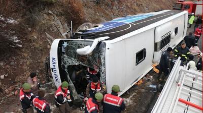 Ankara'da Feci Kaza! Yolcu Otobüsü Devrildi: 2 Ölü, 20 Yaralı