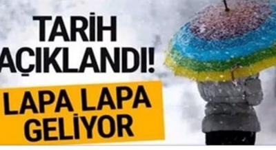 Meteoroloji Açıkladı! Türkiye Beyaza Bürünecek, Lapa Lapa Kar Geliyor