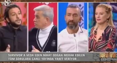 Nihat Doğan'dan Canlı Yayında Skandal Sözler! Survivor Panorama Sunucusu Seda Akgül'e Kaşar Dedi