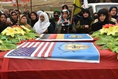 Terörist Cenazesinde Skandal Görüntüler! 3 Ülkenin Kirli İttifakı Kare Kare Ortaya Çıktı