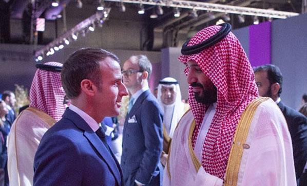 Fransa Cumhurbaşkanı Emmanuel Macron'dan Suudi Prense Ayar