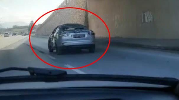 Görenler Hemen Telefona Sarıldı! Trafikte Akılalmaz Görüntü