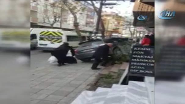 İstanbul'da Korku Dolu Anlar! Kadın Sürücü Fren Yerine Gaza Basınca Faciadan Dönüldü