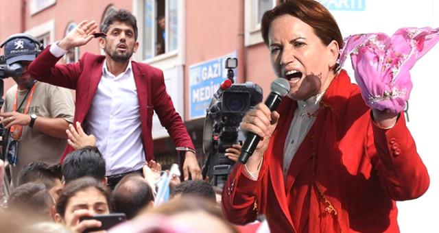 Meral Akşener'in Kahramanmaraş Mitinginde Olay! Kalabalığın Arasında Akşener'e Tepki Gösteren Genç Darp Edildi