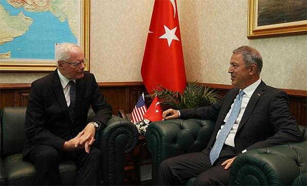 Milli Savunma Bakanı Akar, James Jeffrey İle Görüştü