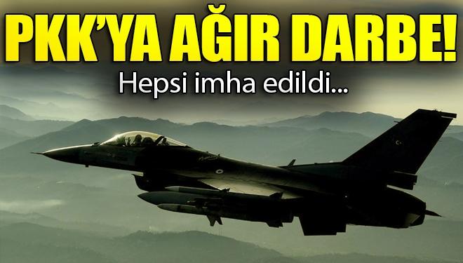PKK'ya Ağır Darbe! Hepsi İmha Edildi