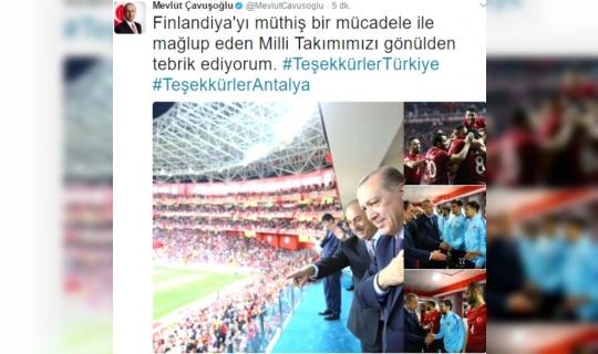 Maçı Statta İzleyen Cumhurbaşkanı Erdoğan'a Taraftarlardan Sevgi Gösterisi