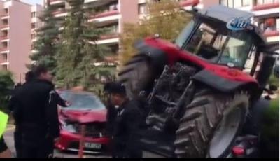 Ankara'da Traktör Alarmı! Polis Ekipleri Meclis Yakınlarında Bir Traktörü Durdurmak İçin Ateş Açtı