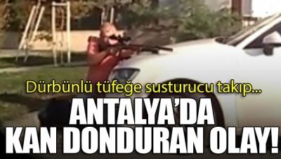 Antalya'da Kan Donduran Olay! Şehir Magandası Susturucu Taktığı Dürbünlü Tüfekle…