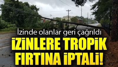 Aydın'da Beklenen Tropik Fırtına Nedeniyle İzinde Olanlar Geri Çağrıldı