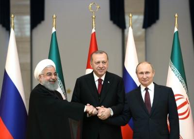 Beştepe'de Büyük Buluşma! Erdoğan, Putin ve Ruhani Buluştu, Masada Suriye Var