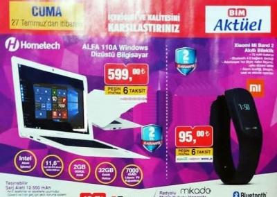 Bim Aktüel Kataloğu ile Homatech Notebook Sadece 599 TL