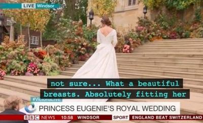 Canlı Yayında Büyük Skandal! Kraliyet Düğününde Alt Yazı...