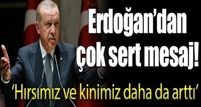 """Cumhurbaşkanı Erdoğan'dan Sert Açıklama: """"Hırsımız Ve Kinimiz Daha Da Arttı!"""""""