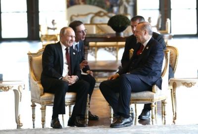 Düşman Çatlatan Kareler! Dev Projenin Temelini Atan Erdoğan ve Putin Külliye'de Baş Başa Görüştü