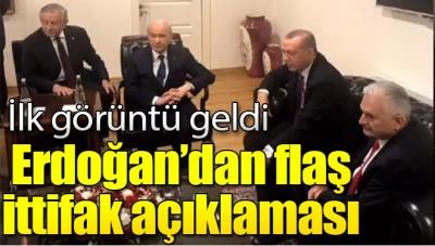 Erdoğan ve Bahçeli Meclis'te Bir Araya Geldi