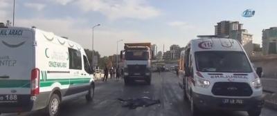 Gaziantep'te Korkunç Kaza! Kamyonun Altında Kalan Bir Kişi Feci Şekilde Can Verdi