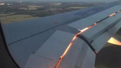 Havada Panik Anları! Milli Takım Uçağı Bir Anda Alev Aldı