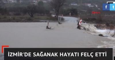 İzmir'de Sel Felaketi! Bir Ayda Yağacak Yağış 3 Günde Yağdı