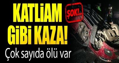 Kayseri'de Katliam Gibi Kaza! Otomobil Takla Attı, Çok Sayıda Ölü Var