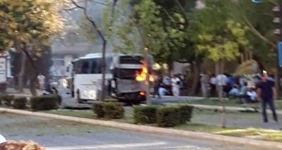 Mersin'de Polis Aracına Düzenlenen Bombalı Saldırının İlk Görüntüleri! Yaralanan 12 Polis Memurunun Sağlık Durumu!