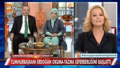 Müge Anlı ile Tatlı Sert 1 Şubat 2018 Canlı Yayınında Cumhurbaşkanı Recep Tayyip Erdoğan Eğitim Seferberliğini Bizzat Başlattı