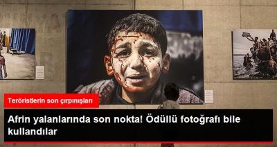 Nasıl Yalan Söyleyeceklerini Şaşırdılar! Afrin'den Diye Daha Önce Ödül Alan Fotoğrafı Paylaşıp, Türk Askerini Sivillere İşkence Yapıyor Gibi Göstermeye Çalıştılar!