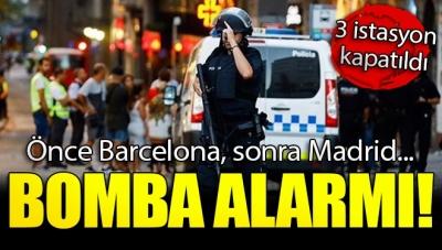 Önce Barcelona Şimdi Madrid! Bomba Alarmı Nedeniyle 3 İstasyon Kapatıldı