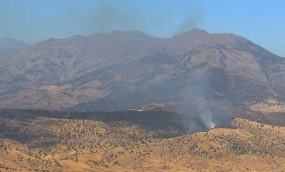 Operasyondan Kaçan Teröristler Ağaçlık Alanları Ateşe Veriyor