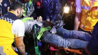 Şişli'de Korkunç Anlar! İnşaat İşçisinin Bacaklarına Demir Saplandı