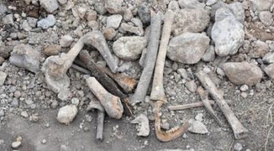 Sivas'ta Dehşet Görüntüler! Hafriyat Alanından İnsan Kemikleri Çıktı