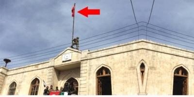 Son Dakika! Afrin İlçe Merkezinde Bulunan Hükümet Binasına Türk Bayrağı Dikildi