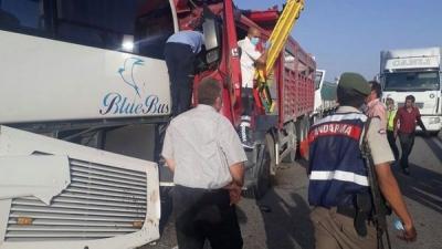 Tarladan Çıkan Duman Katliama Sebep Oluyordu! 13 Araç Birbirine Girdi, 34 Kişi Yaralandı