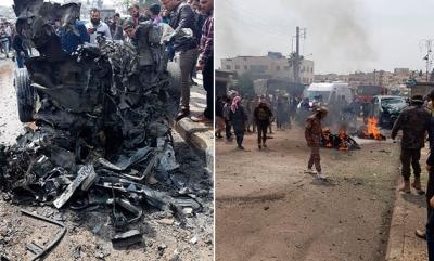 Terör Örgütü PYD/YPG Azez'e Bomba Yüklü Araçla Saldırdı! 2'si Ağır 17 Yaralı