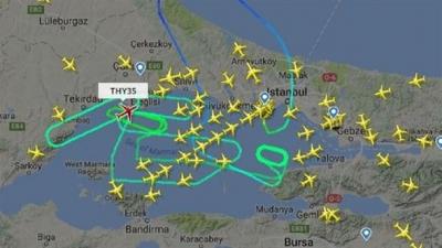 THY Uçağı İniş Yapabilmek İçin İstanbul Üzerinde 7 Saat 22 Dakika Tur Atmak Zorunda Kaldı