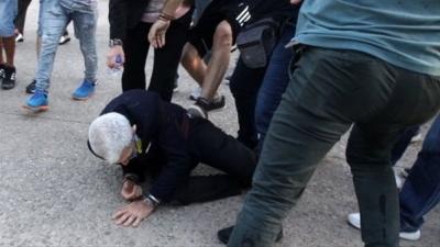 Türk Düşmanları Selanik Belediye Başkanını Tekme Tokat Dövdü