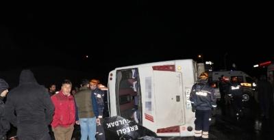 Zonguldak'ta Katliam Gibi Kaza! Yolcu Otobüsü Devrildi: 1 Ölü, 16 Yaralı